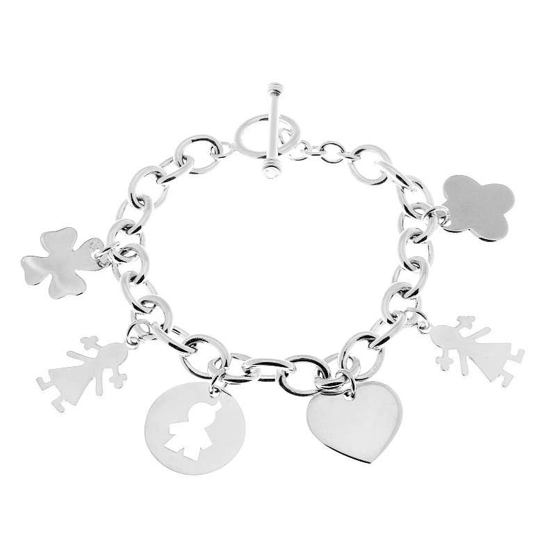 bracelet chaine breloques à composer