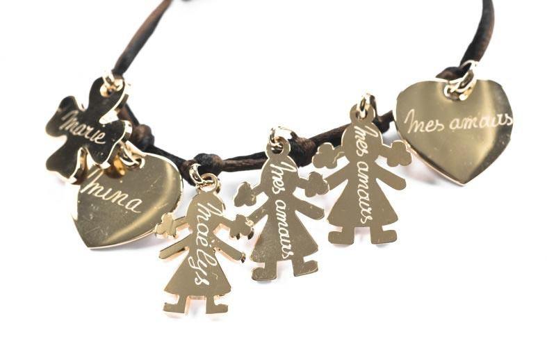 bracelet lien breloque à composer
