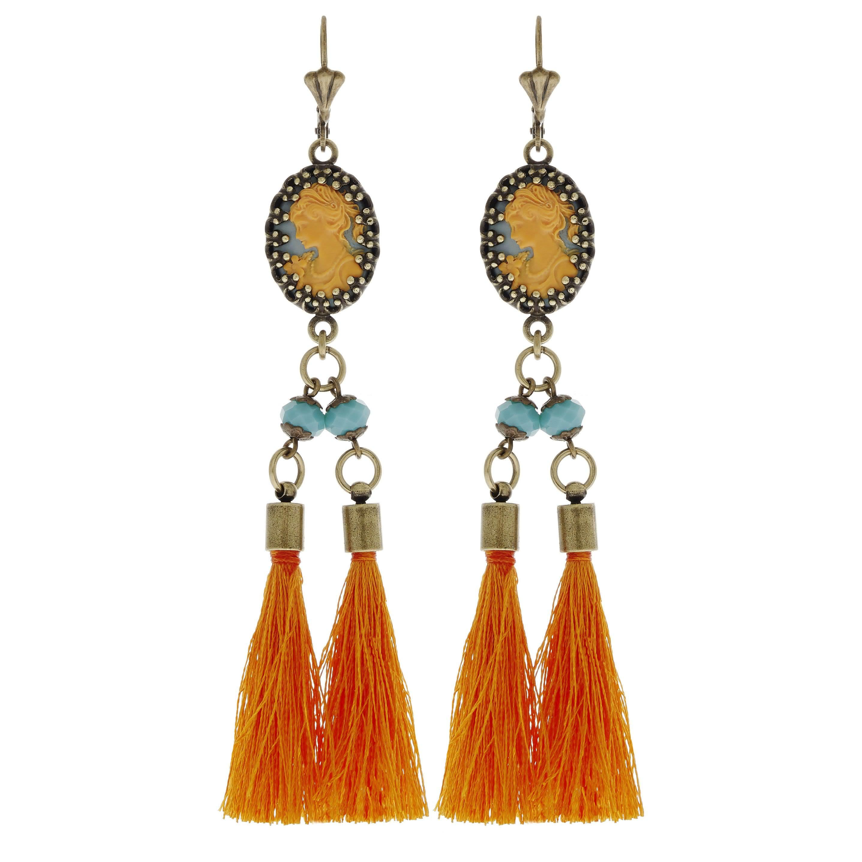 Boucles d'oreilles Babushka (orange)
