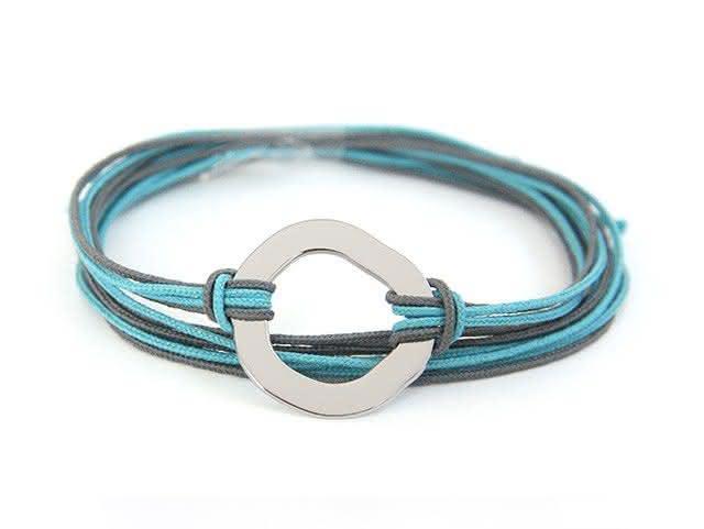 Bracelet multi cordons anneau irrégulier (homme)