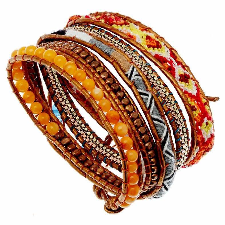 bracelet bresilien orange