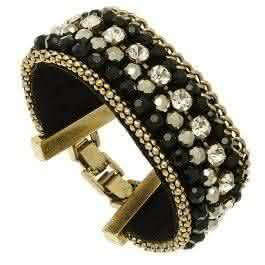 Bracelet Manchette Signature (noir)