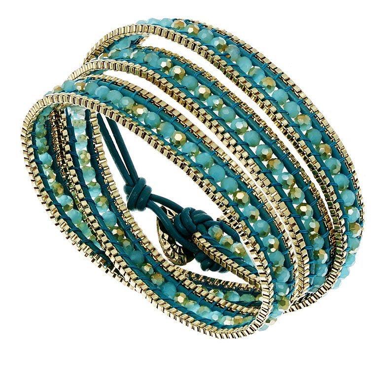bracelet headband bleu turquoise