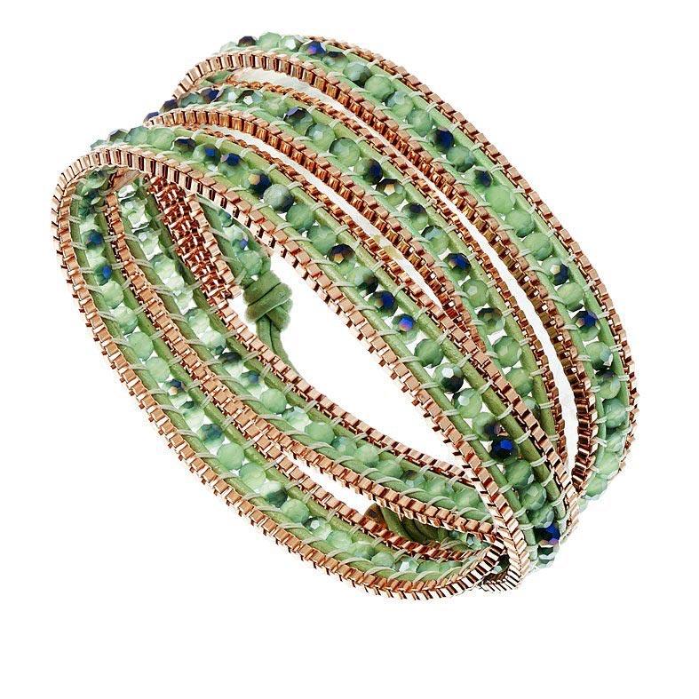bracelet headband vert amande