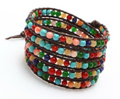 bracelet multitour multicolore