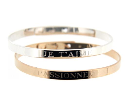 Duo bracelets Jonc Ruban