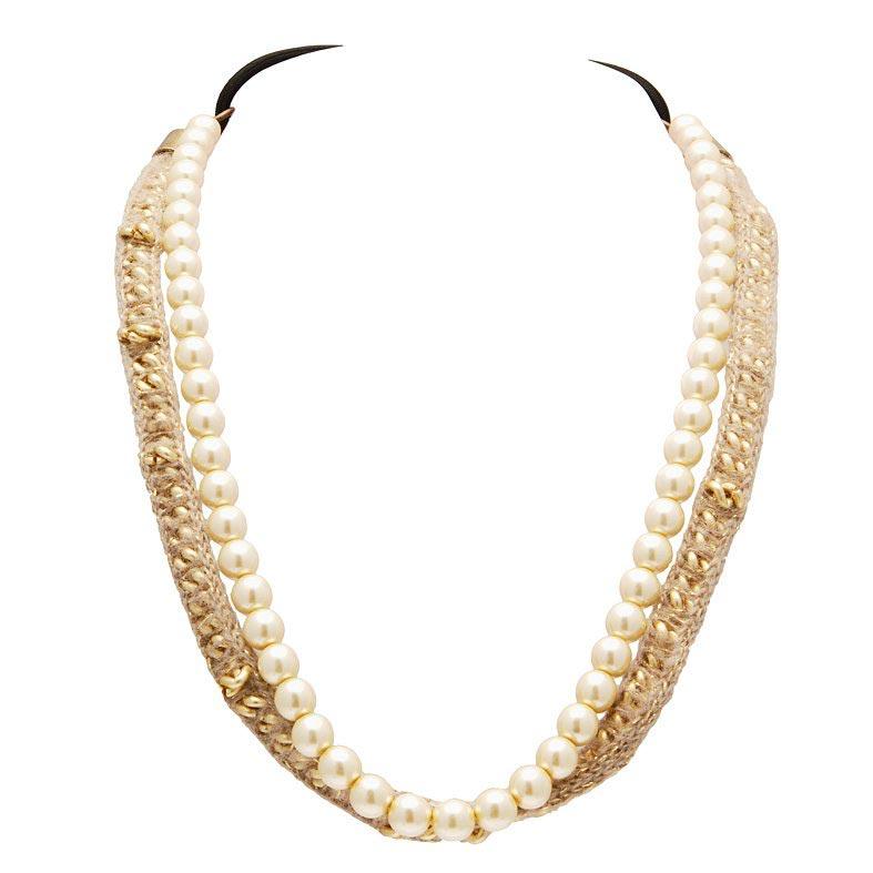 bijou de tete perle et lain