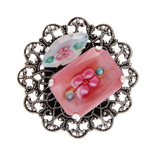 bague-rose-fleurie
