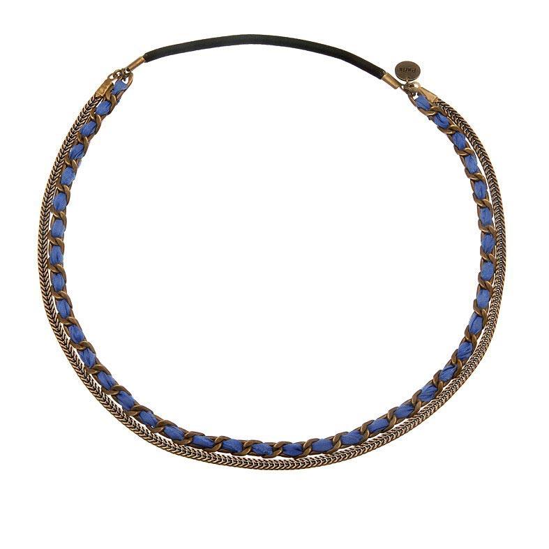 headband tressé bleu aurelie Jolif