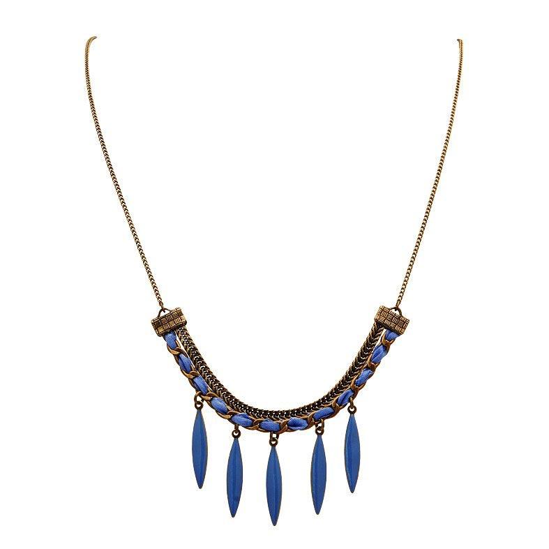 collier pampille bleu