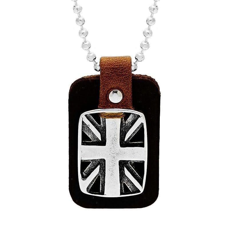 collier pendentif plaque