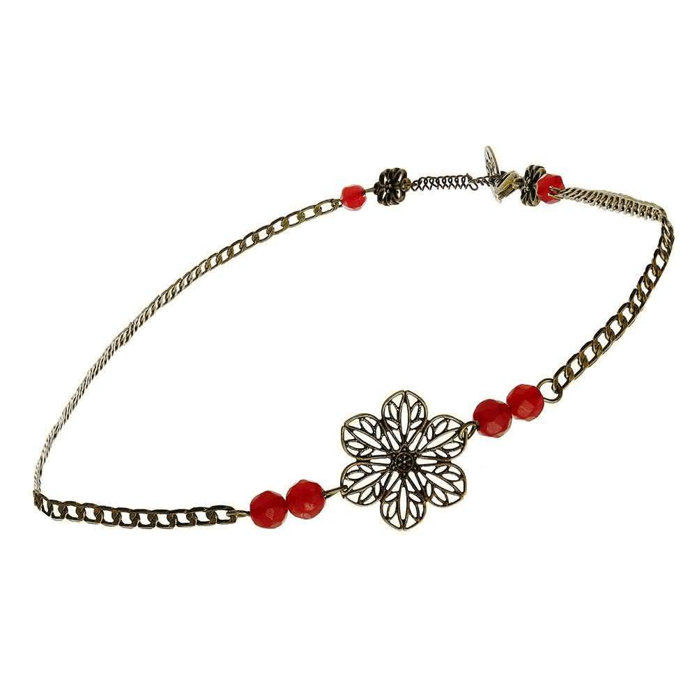 Headband Art Nouveau (rouge)